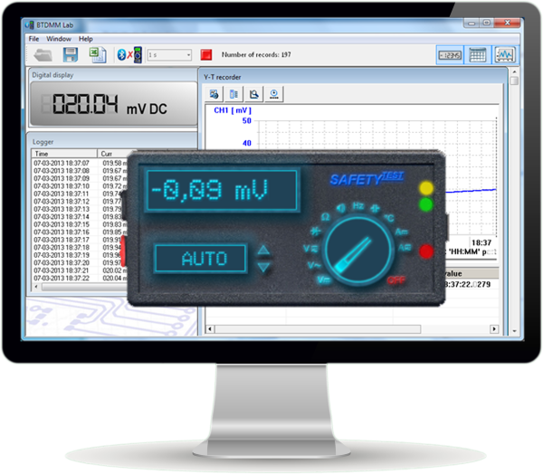 Software Panel SAFETYTEST USB DMM 80